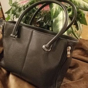 GTM Concealed Carry Black Leather Purse